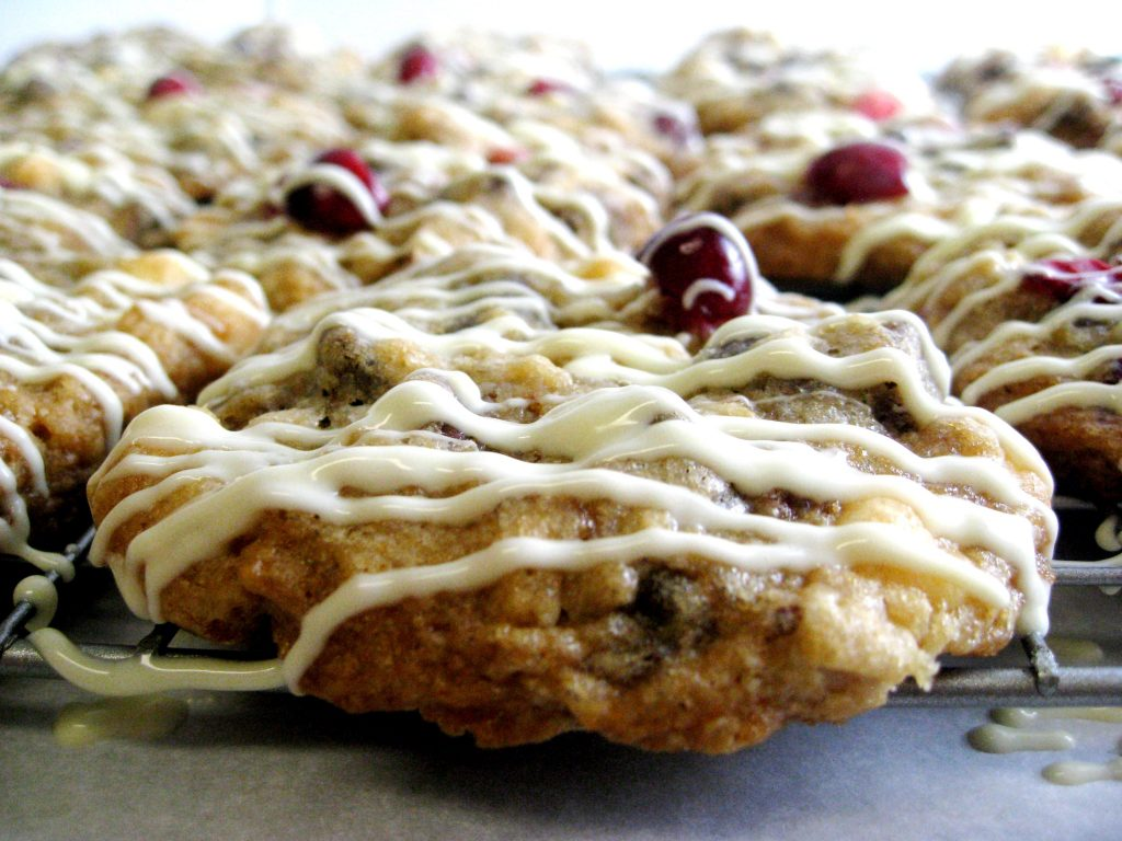 Triple-Chocolate Cranberry Oatmeal Cookies